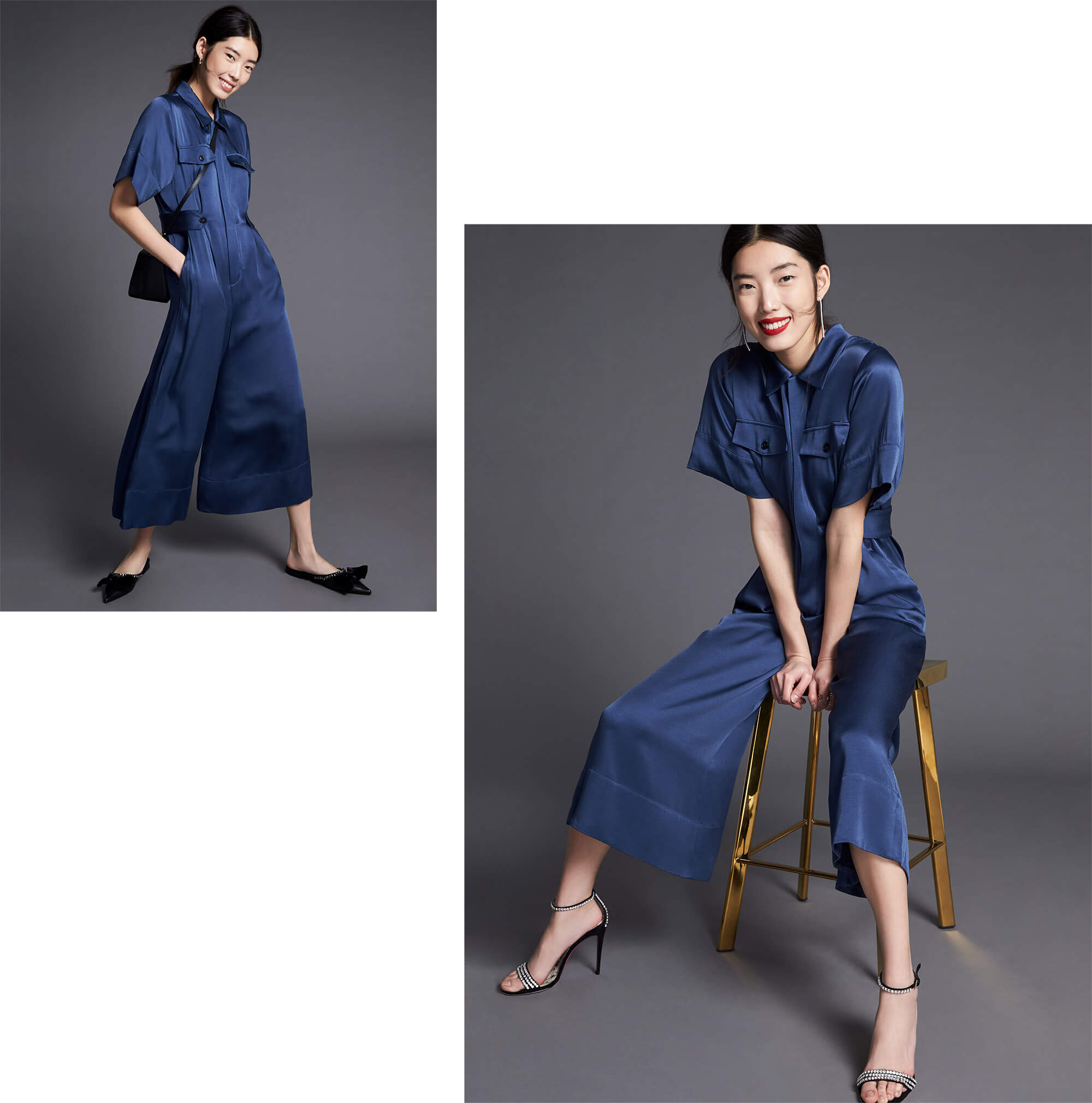 Shirley Short-Sleeve Jumpsuit G. Label
