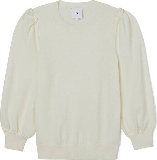 G. Label Wendy Puff-Sleeve Sweater